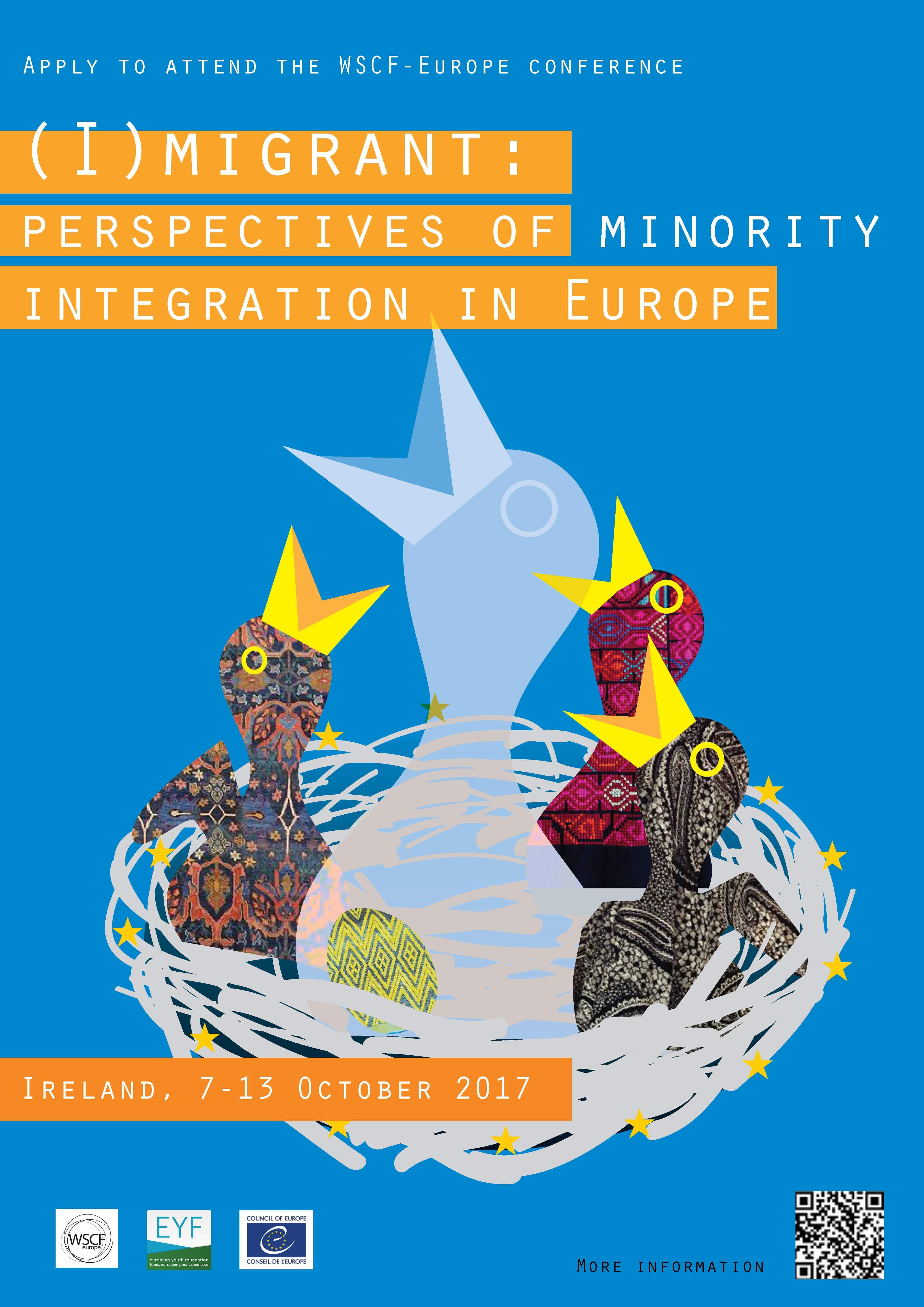 "Locandina campo WSCF-E 2017 ""(I)migrant: perspectives of minority integration in Europe"""